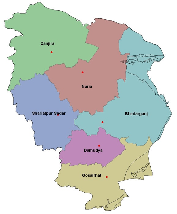 Map of Shariatpur District