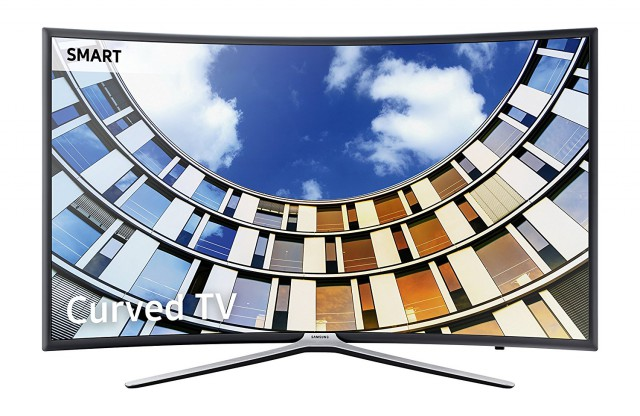 """Samsung M6300 FHD 55"""" Micro Dimming Curved Smart LED TV"""