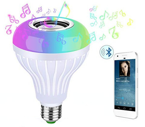 Bluetooth Wireless Speaker with Color Changing LED Light